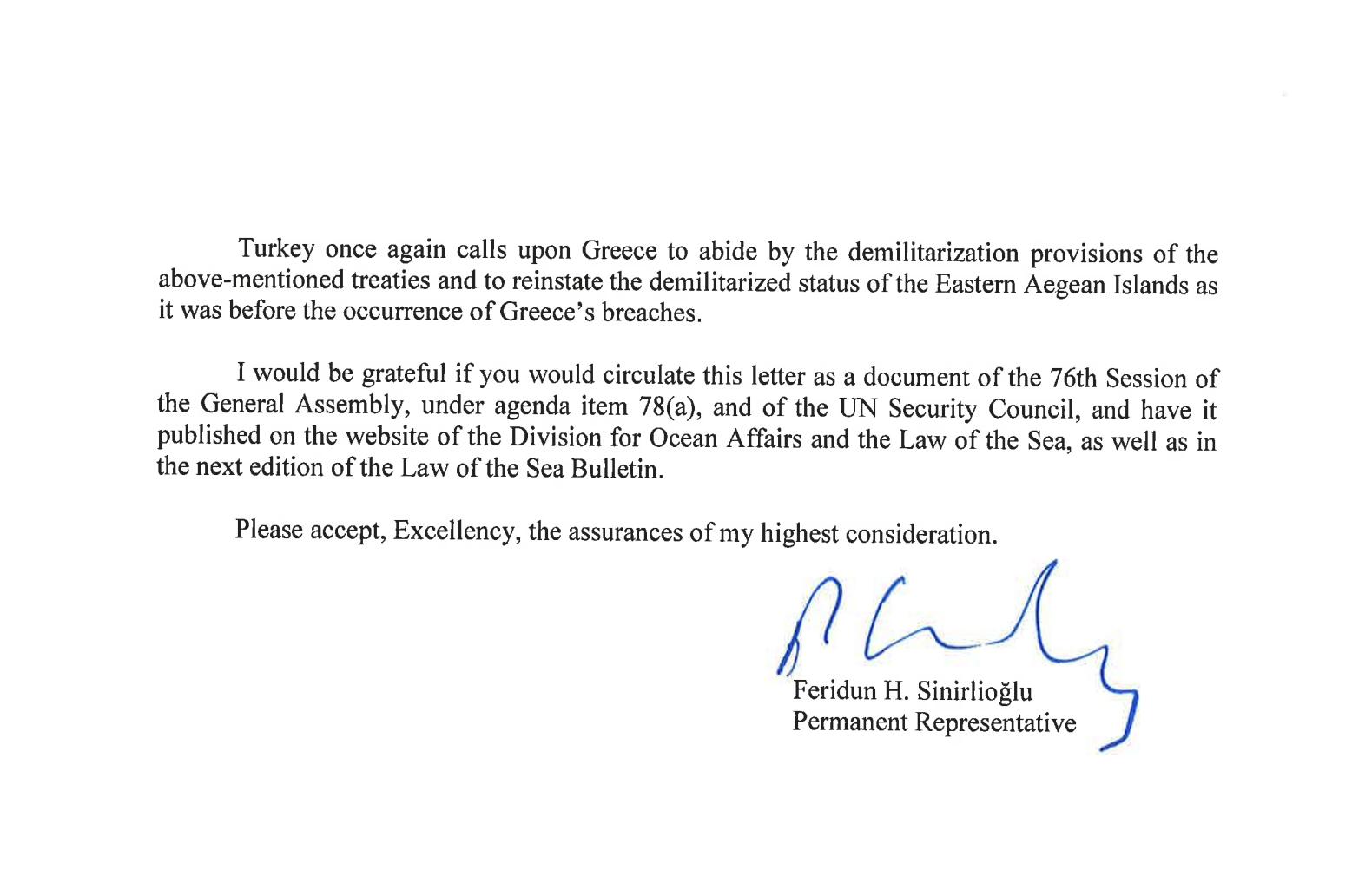 «Η Ελλάδα δεν έχει δικαιώματα στα νησιά» – Η «Κ» αποκαλύπτει την επιστολή της Τουρκίας στον ΟΗΕ, φωτογραφία-4