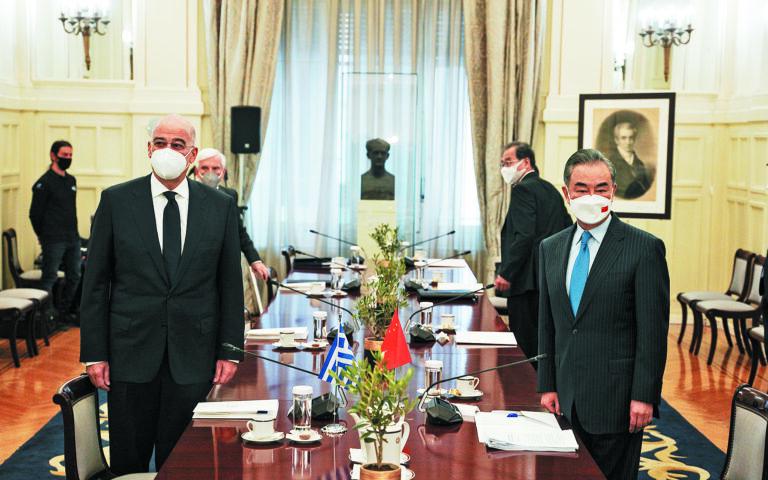Κατά τη συνάντησή του με τον κ. Γουάνγκ Γι, ο κ. Δένδιας ενημέρωσε τον ομόλογό του για τον αποσταθεροποιητικό ρόλο της Τουρκίας στην Ανατ. Μεσόγειο. (SOOC)
