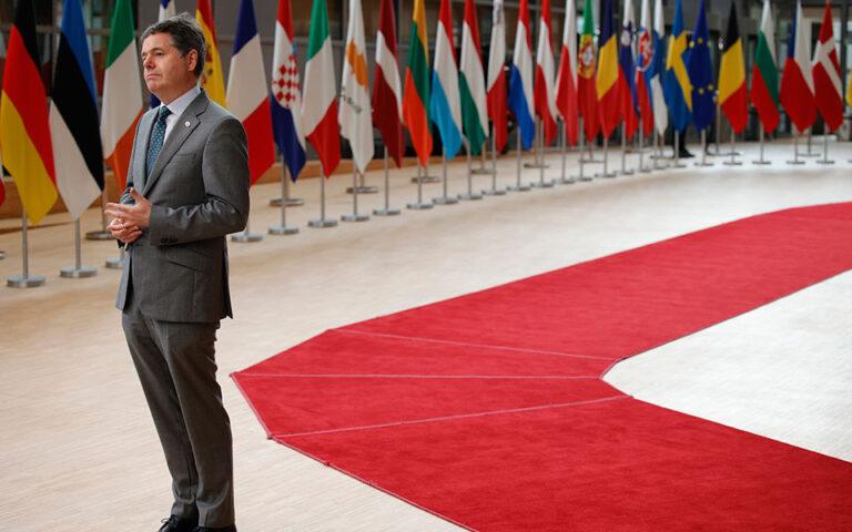Ο πρόεδρος του Eurogroup, Πασκάλ Ντόναχιου. AP Photo/Olivier Matthys