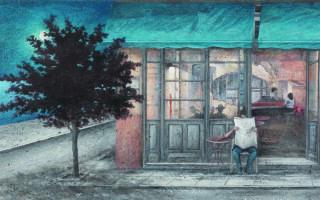 Η έκθεση της Δάφνης Αγγελίδου στην γκαλερί «Ευριπίδης» παρουσιάζει 47 ζωγραφικά έργα.