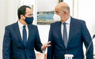 Συνάντηση με τον Κύπριο ομόλογό του Ν. Χριστοδουλίδη είχε χθες ο Ελληνας υπουργός ΕξωτερικώνΝ. Δένδιας. (INTIME NEWS)