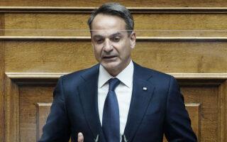 Τα πλεονεκτήματα που προκύπτουν από την αμυντική συμφωνία με τη Γαλλία ανέπτυξε κατά την ομιλία του ο κ. Μητσοτάκης, ενώ δεν άφησε αναπάντητες τις αιτιάσεις της αντιπολίτευσης για «κενά» που δεν μας καλύπτουν. (SOOC)